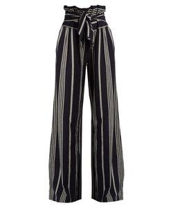 ACE & JIG | Paperbag-Waist Wide-Leg Cotton Trousers