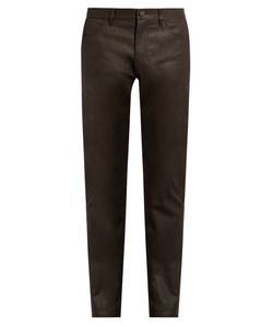 Calvin Klein Collection | Gypsum Resin-Coated Slim-Fit Jeans