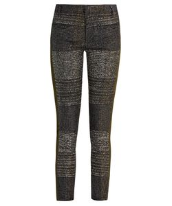 Haider Ackermann | Bussey Skinny-Leg Tweed And Leather Trousers