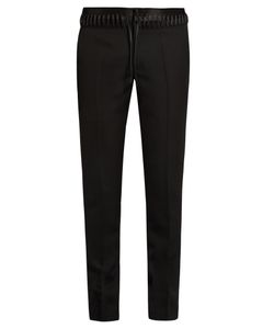 Haider Ackermann | Lace-Waist Straight-Leg Wool Trousers