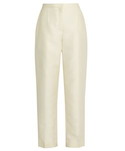 BROCK COLLECTION | Teddy High-Rise Wool And Silk-Blend Trousers