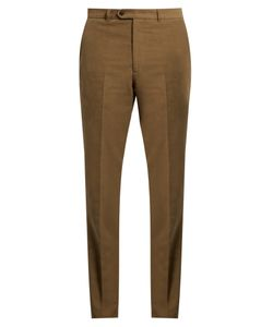 GIEVES & HAWKES | Slim-Leg Brushed-Cotton Chino Trousers