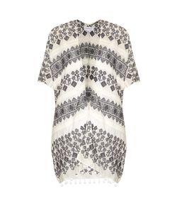 Velvet by Graham & Spencer | Aracel Geometric-Embroidered Cotton Kimono