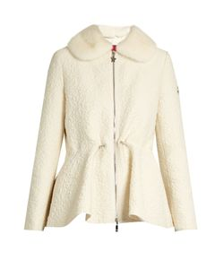 Moncler Gamme Rouge | Detachable Fur-Collar Wool-Blend Cloqué Jacket
