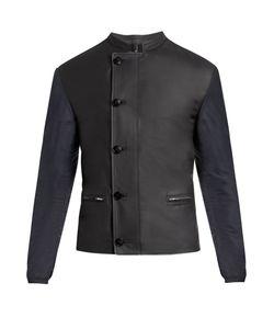 HELBERS | Leather And Nylon Biker Jacket