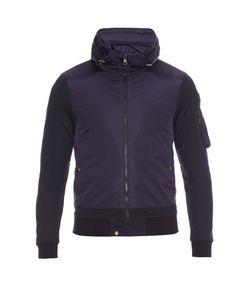 Moncler   Contrast Hooded Zip-Through Jacket