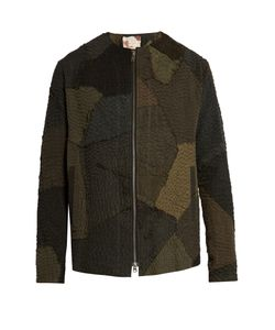 BY WALID | Patchwork-Linen Bomber Jacket