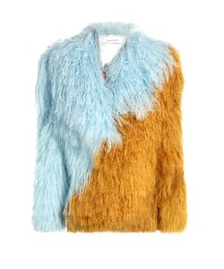 Saks Potts | Heart Bicolour Tibetan-Lamb Fur Jacket