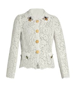 Dolce & Gabbana | Cordonetto-Lace Embellished Lace Jacket