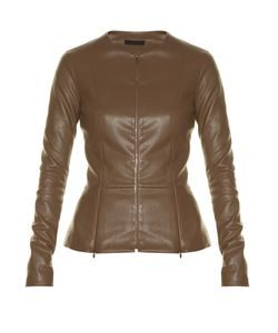 The Row | Anasta Collarless Leather Jacket