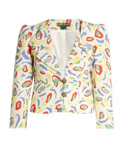 Duro Olowu | Abstract Bird-Print Cloqué Jacket