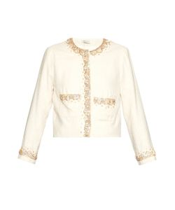 WALES BONNER | Thione Embellished Collarless Jacket