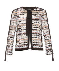 Oscar de la Renta | Collarless Tweed Jacket
