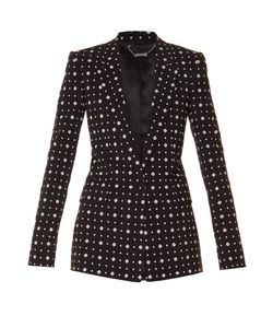 Givenchy | Micro Geometric-Print Tailored Jacket