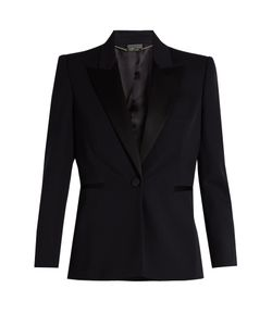 Alexander McQueen | Contrast-Lapel Single-Breasted Wool Jacket