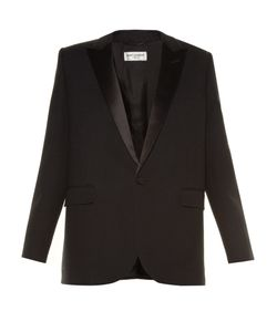 Saint Laurent | Le Smoking Single-Breasted Crepe Blazer