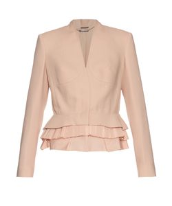 Alexander McQueen | Peplum-Hem Wool And Silk-Blend Jacket