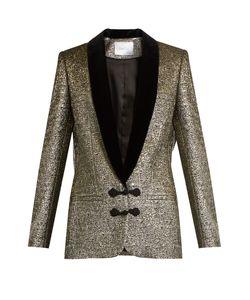 RACIL | Draco Velvet-Lapel Brocade Jacket