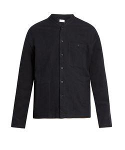 Fanmail | Mandarin-Collar Cotton-Flannel Shirt