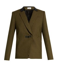 Courreges | Hounds-Tooth Notch-Lapel Wool Jacket