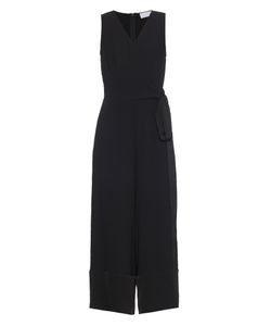 OSMAN | V-Neck Sleeveless Crepe Jumpsuit