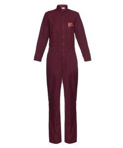 Aries | Cat-Embroidery Cotton-Blend Jumpsuit