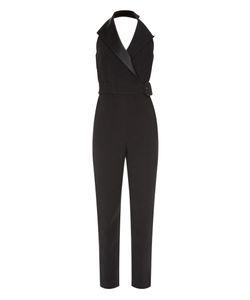 Balenciaga | Satin-Lapel Halterneck Jumpsuit