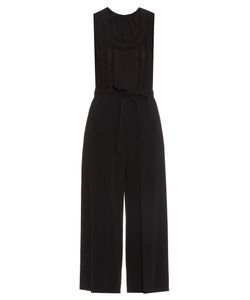 Red Valentino | Lace-Panelled Wide-Leg Crepe Jumpsuit