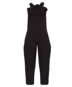Y'S BY YOHJI YAMAMOTO | Knot-Detail Cotton-Blend Dungarees