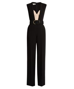 Stella Mccartney | Paola Sleeveless Wide-Leg Cady Jumpsuit