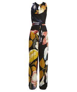 Vivienne Westwood Anglomania   Twisted Print Crepe Jumpsuit