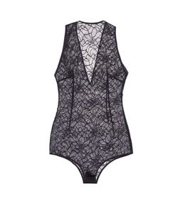 Lamania | V-Neck French-Lace Bodysuit