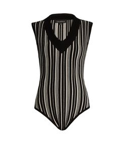 TABULA RASA | Tolun Striped V-Neck Bodysuit