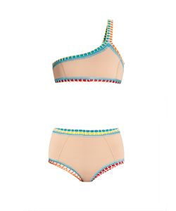 KIINI   Luna Crochet-Trim Triangle Bikini