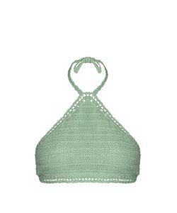 SHE MADE ME | Malikah Halterneck Crochet Bikini Top