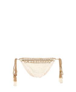 SHE MADE ME | Mihira Embellished Tie-Side Crochet Bikini Briefs