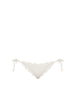 Marysia Swim | Mott Scallop-Edged Tie-Side Bikini Briefs