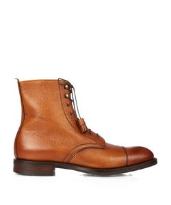 CHEANEY | Elliot R Grained-Leather Boots