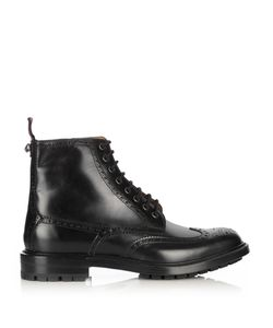 Gucci | Lace-Up Leather Brogue Boots