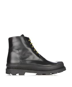 Fendi   Lace-Up Leather Ankle Boots