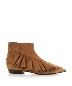 J.W. Anderson | Ruffled Suede Ankle Boots