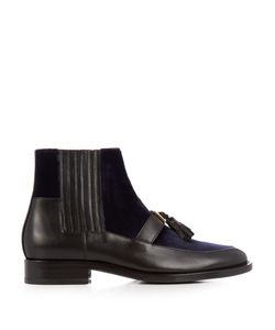 Balmain | Theodorade Leather And Velvet Chelsea Boots