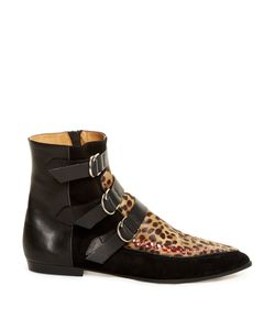 Isabel Marant | Rowi Calf-Hair Leather And Suede Ankle Boots
