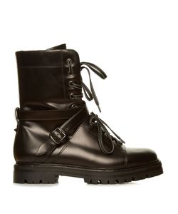 Valentino | Rockstud Tread-Sole Leather Ankle Boots
