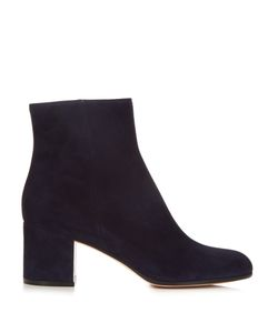 Gianvito Rossi | Margaux Block-Heel Suede Ankle Boots