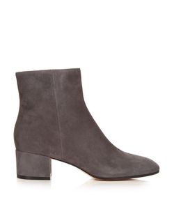 Gianvito Rossi | Rolling Block-Heel Suede Ankle Boots