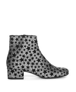 Saint Laurent | Babies Star-Embellished Glitter Ankle Boots