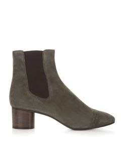 Isabel Marant | Danae Block-Heel Suede Ankle Boots