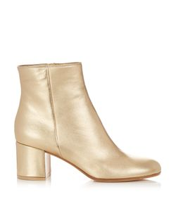 Gianvito Rossi | Margaux Block-Heel Leather Ankle Boots