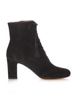 Tabitha Simmons | Afton Lace-Up Suede Ankle Boots